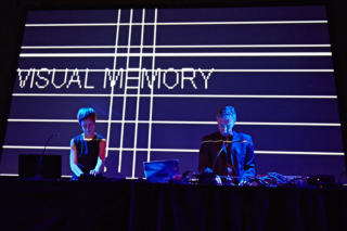 SCHNITT Marco Monfardini, Amelie Duchow, MEMORY CODE live audi video performance at Ephil Festival Hamburg Germany